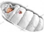 Зимний конверт-трансформер пуховик Дутик/Inflated Ontario Baby (белый)
