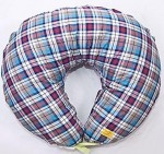 Подушка для кормления Макошь (лен, коттон) Шотландка