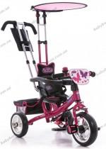 Детский трехколесный велосипед Profi Trike M 5360-2 (малиновый)