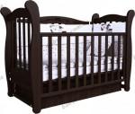 Детская кроватка ВЕРЕС Соня ЛД15 с маятниковым механизмом (орех)