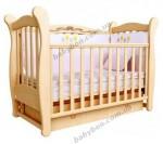Детская кроватка ВЕРЕС Соня ЛД15 с маятниковым механизмом (бук)