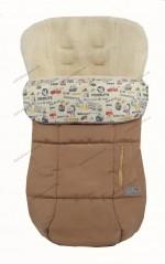 Зимний конверт-чехол в коляску на овчине ДоРечи Trend (бежевый)