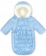 Зимний конверт на овчине Baby Line Z64-14 (голубой) р.62-68