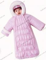 Зимний конверт на овчине Baby Line Z64-14 (розовый) р.62-68