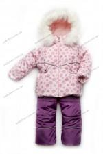 Зимний детский костюм-комбинезон Модный Карапуз Bubble pink (р. 86-104)