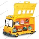 Кейс-гараж школьный автобус Скулби Silverlit Робокар Поли