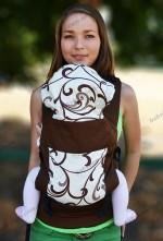 Регулируемый слингорюкзак переноска Katinka (коричневый винтаж) New