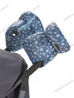 Двойная универсальная муфта для коляски ДоРечi (Голубые звезды)