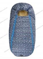 Конверт-кокон на овчине ДоРечи Baby XS (голубые звезды)