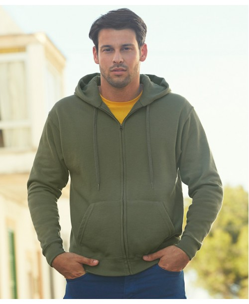 Hooded sweat jacket 6251