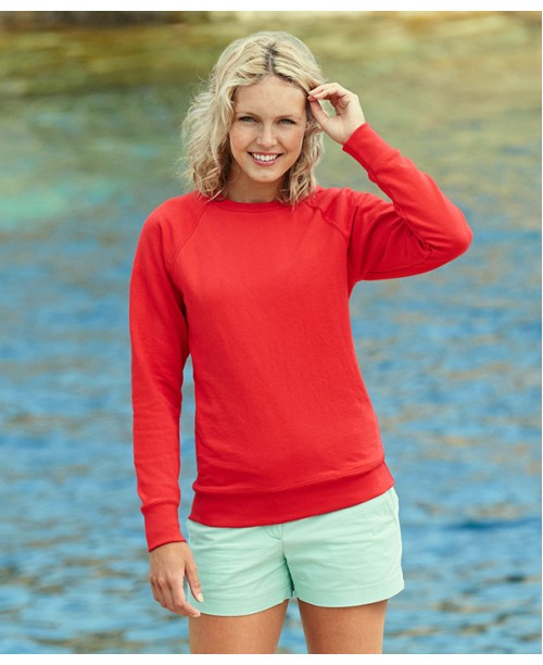 Lady fit Lightweight Raglan Sweat 6271
