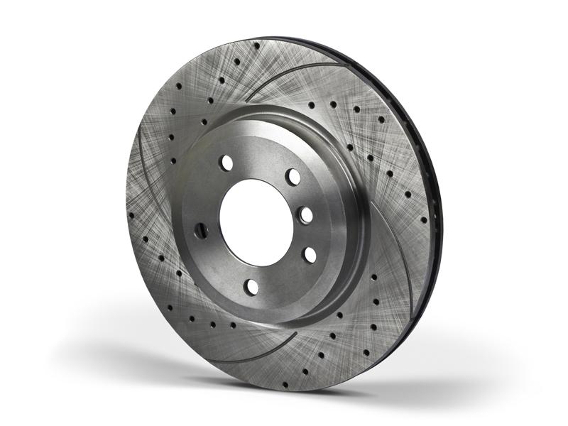 Тормозные диски (перфорация и насечка) передние, пара