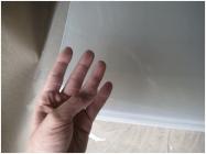 ПВХ лист прозрачный, толщина 0,3мм, 1,22*2,44м, защитное покрытие ПЭТ
