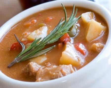Чешский суп со свининой