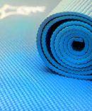 Коврик для йоги FM-101, PVC, 173x61x1,0 см, синий Starfit