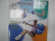 Мяч для фитнеса Body 65см с эспандером