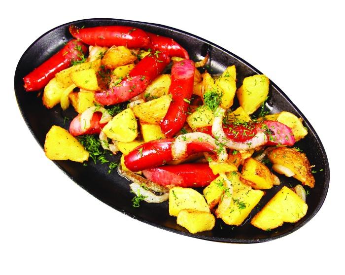 Гор.сковорода с колбасками