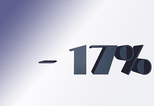 Тільки в цьому році, знижка на всі послуги компанії - 17%