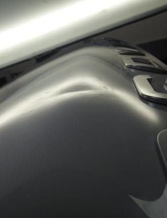 Алюминиевый капот удаление вмятины