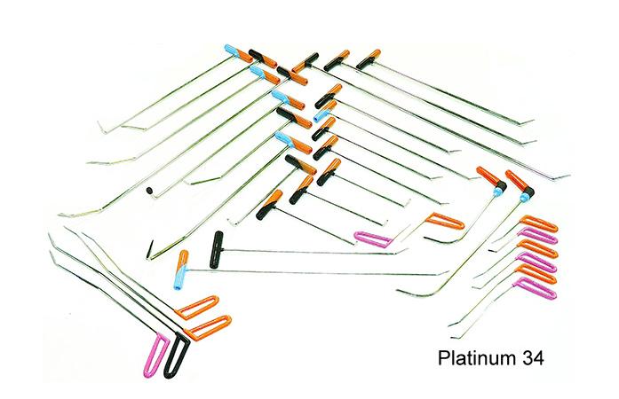 Комплект инструмента из нержавеющей стали Platinum 34