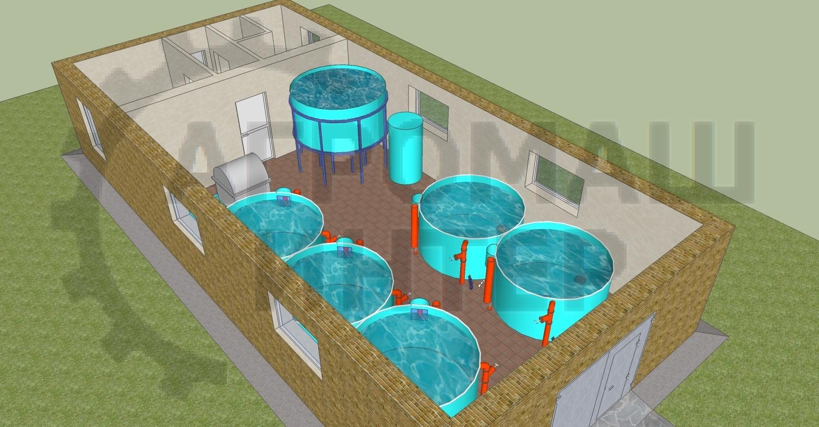 Универсальный рыбоводный модуль на 1 тонну осетра в год