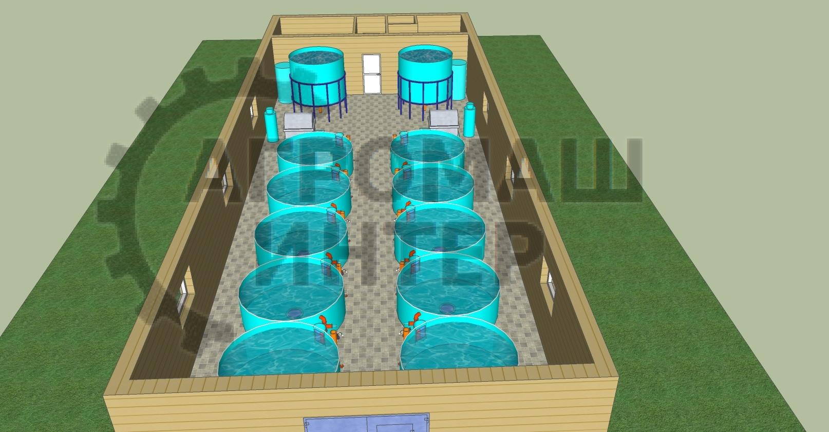 Рыбоводный комплекс на 3 тонны