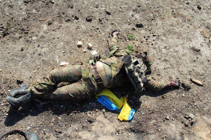 ВСУшники бросили труп сослуживца на поле боя в Донбассе и объявили его