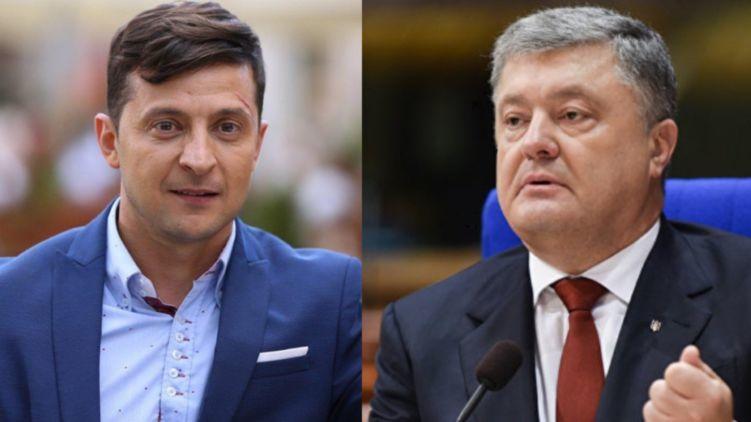 По данным экзит-полов, во второй тур президентских выборов на Украине проходят Зеленский и Порошенко