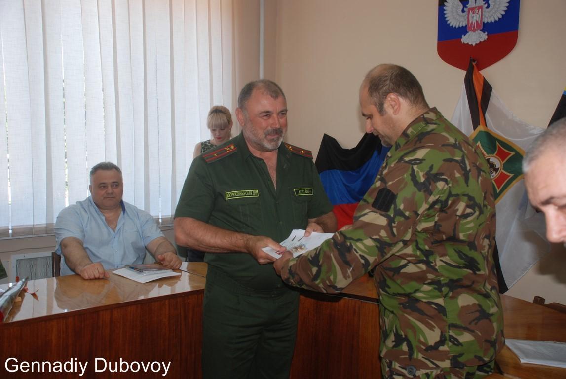 В Макеевке наградили ополченцев и добротворцев Русской Весны. Фото