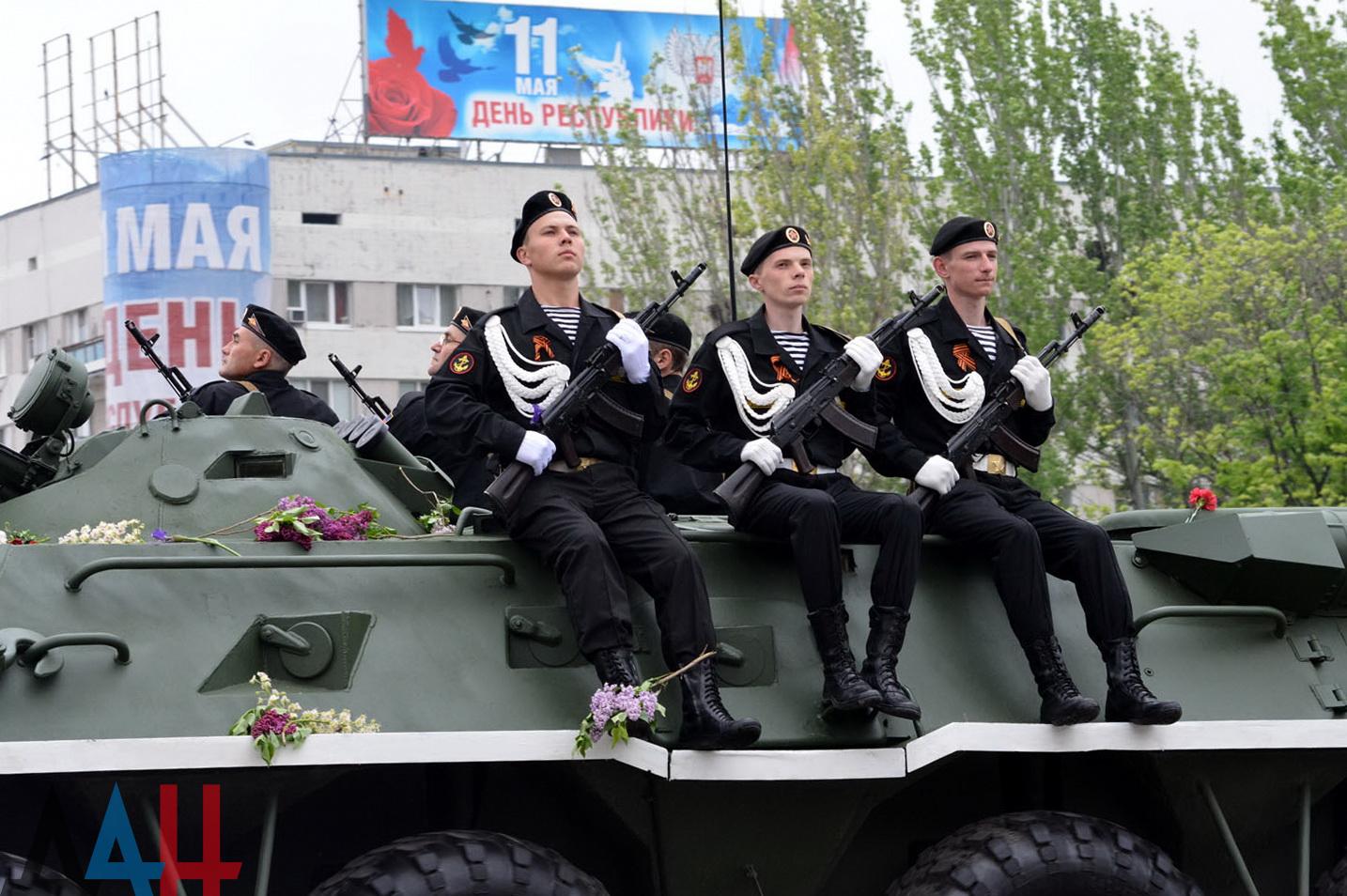 В Параде Победы в Донеце примут участие более 10 000 военных