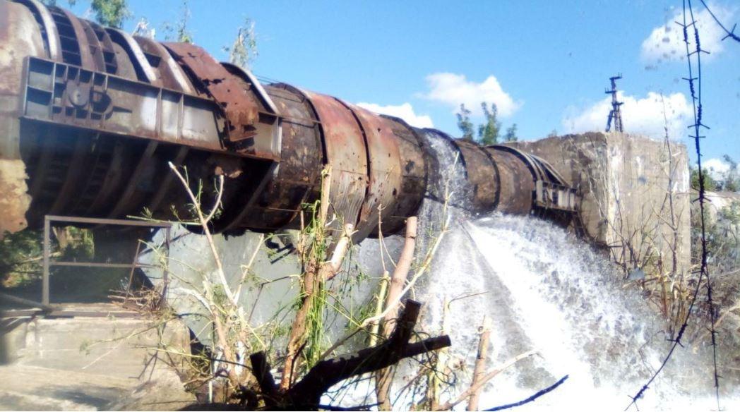 В ДНР почти вдвое сокращена подача воды из-за перебитого ВСУшниками водопровода. Фото. Видео